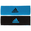 Adidas Interval Reversible Headband, Solar Blue / Black