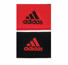 Adidas Interval Reversible Wristband, Hi-Res Red / Black, 2-pack