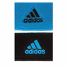 Adidas Interval Reversible Wristband, Solar Blue / Black, 2-pack