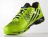 last few pairs - Adidas Volley Response Boost Men's Court Shoes, Solar Green