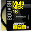 Ashaway MultiNick Squash String, 18g, Black, SET