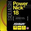 Ashaway PowerNick Squash String, 18g, Red, SET
