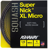 Ashaway SuperNick XL Micro Squash String, 18g, Black, SET