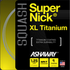 Ashaway SuperNick XL Ti  Squash String, 17g, Silver with spiral, SET