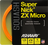 Ashaway SuperNick ZX Micro Squash String, 18g, Orange, SET