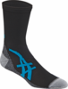 Asics Fujitrail Mini Crew Socks, 1-pack, Black / Atomic Blue, LARGE
