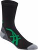 Asics Fujitrail Mini Crew Socks, 1-pack, Black / Power Green, LARGE