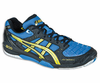 last few - Asics Gel Blade 4 Men's Squash / Indoor Court, Royal Blue / Yellow