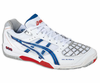 Asics Gel Blade 4 Men's Squash / Indoor Court Shoes, White / Royal