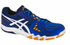 last few - Asics Gel Blade 5 Men's Squash / Indoor Court Shoes, Electric Blue/White/Navy
