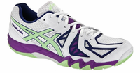Asics GEL-Blade 5 Women's Court Shoes, White/Pistachio/Grape
