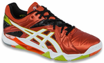 Asics Gel Cyber Sensei Men's Court Shoes, Cherry Tomato / White / Black, SIZE 13