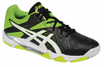 Asics Gel-Cyber Sensei Men's Court Shoes, Black / White / Green