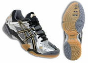 ASICS GEL Domain Squash / Volleyball Men's Shoes, Silver / Black