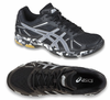 Asics Gel Flashpoint Men's Squash / Indoor Court Shoes, Black / Silver, size 11.5