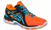 last few - Asics Gel Netburner MT Ballistic Men's Court Shoes, Flash Orange, SIZE 11.5