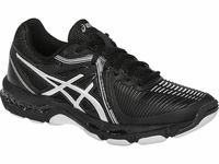 Asics Gel Netburner Ballistic Women's Court Shoes, Black / Silver