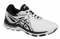 Asics Gel Netburner Ballistic Women's Court Shoes, White / Black / Silver
