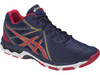 last few - Asics Gel Netburner MT Ballistic Men's Court Shoes, Indigo Blue/Prime Red/Rich Gold