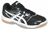 Asics Gel-Rocket 7 Men's Squash / Indoor Court Shoes, Black / White