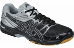 LAST FEW - Asics Gel-Rocket 7 Men's Indoor Court Shoes, Black / Silver