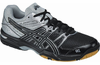 LAST FEW - Asics Gel-Rocket 7 UNISEX Indoor Court Shoes, Black / Silver