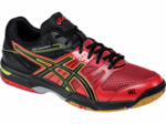 last few - Asics Gel-Rocket 7 Men's Squash / Indoor Court Shoes, Red/Black/Flash Yellow