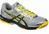 last few - Asics Gel-Rocket 7 Unisex Court Shoes, Silver / Onyx / Yellow