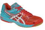 Asics Gel Rocket 7 Women's Court Shoes, Diva Pink / White
