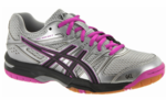 LAST FEW - Asics Gel Rocket 7 Women's Court Shoes, Silver / Black / Pink