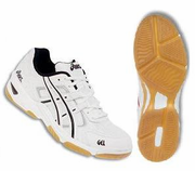 Asics Gel Rocket III Squash / Volleyball Ladies Shoes, White / Silver / Black