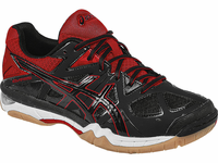 ASICS Gel-Tactic UNISEX Court Shoes, Black / Fiery Red