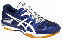 ASICS Gel-Tactic UNISEX Court Shoes, Estate Blue / White / Silver