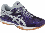 ASICS Gel-Tactic UNISEX Court Shoes, Purple / White / Silver