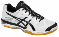 ASICS Gel-Tactic Unisex Court Shoes, White / Black / Silver