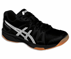 last few - Asics Gel Upcourt GS Junior Squash / Indoor Court Shoes, Black / Silver