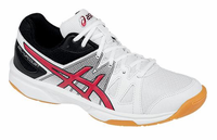 Asics Gel Upcourt GS Junior Squash / Indoor Court Shoes, White / Red / Black