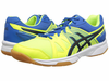 last few - Asics Gel Upcourt Squash / Indoor Court Men's Shoes, Yellow / Black / Blue
