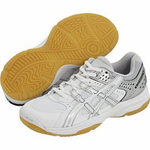 last few - Asics Junior Rocket GS Squash Shoes, White/Silver, SIZE 6
