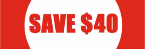 Biggest Sale Ever: SAVE $40 per racket!