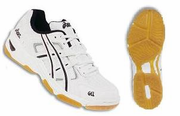 CLOSEOUT - Asics Gel Rocket III Squash / Volleyball Lady's Shoes,  White / Silver / Black