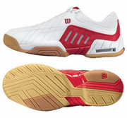 CLOSEOUT - Wilson Torque Low Squash / Racquetball Men's Shoes, White/Red