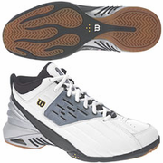 CLOSEOUT - Wilson Zone DST02 Mid  Squash / Racquetball Men's Shoes, White