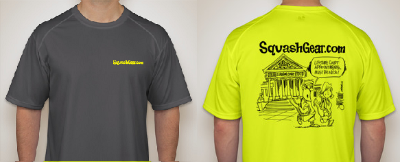 Dry fit performance t shirt with squashgear logo for Dry fit custom t shirts