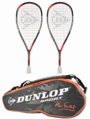 Dunlop Ali Farag Pack: 2 Hyperfibre+ Revelation Pro Racquets and FREE Bag