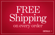 FREE Standard Shipping for ANY Size Order to ANY US address