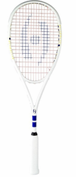 Harrow Vapor Ultralight Squash Racquet, White/Royal/Yellow