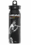 HEAD Prime Double Yellow Dot Squash 3 Ball Tube