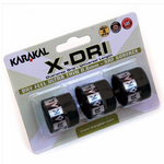 Karakal X-DRI Overgrip, 3-pack, Assorted Colors