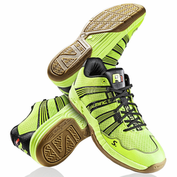 Last few -  Salming 2015 Race R1 2.0 Men's Court Shoes, Yellow, SIZE 14